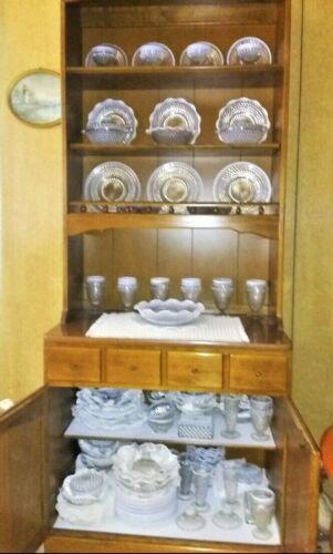 AH Moonstone Opal Glass Hobnail Dinnerware,1940s Choose Type! Sold in Sets