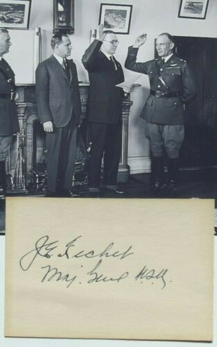 General James Fechet U.S Air Force Pioneer, Chief Air Corps Autograph
