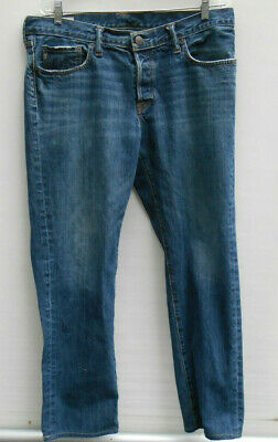 Men's Abercrombie & Fitch A&F Classic Straight Button Fly Jeans Size 36 x 32