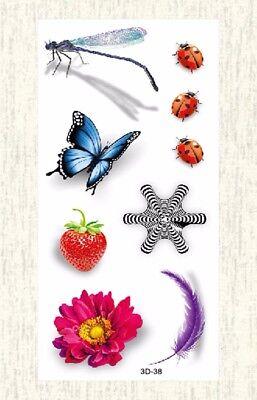US SELLER, 3D ladybug dragonfly temporary tattoo cheap fake tattoos](Ladybug Tattoos)
