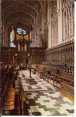 Cambridgeshire: King's College Chapel, Cambridge - Unposted c1970's