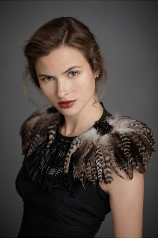 Feather Collar from designer James Coviello- Best Offer or $79.99+SHIPPING