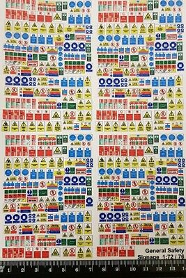 VEHICLE SAFETY /& WARNING DECALS FOR OO GAUGE 1:76 SCALE MODEL RAILWAY DC014-OO