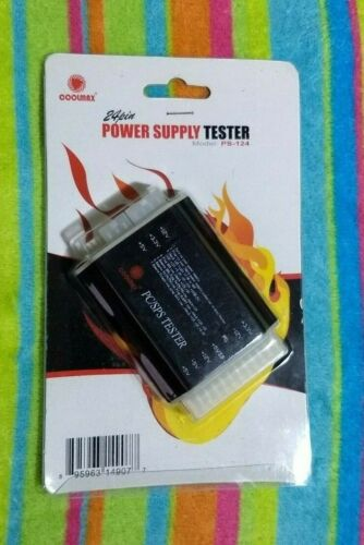 COOLMAX MODEL: PS-124 ATX POWER SUPPLY TESTER 20 / 24 PIN, PC/SPS TESTER