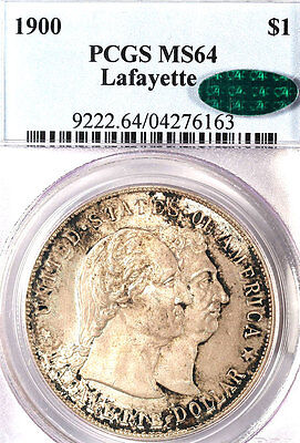 Click now to see the BUY IT NOW Price! 1900 $1 LAFAYETTE MS64 PCGS/CAC ONLY 448 IN HIGHER GRADE SILVER COMMEMORATIVE///