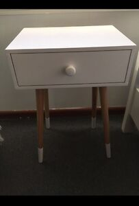 White bedside table Bass Hill Bankstown Area Preview