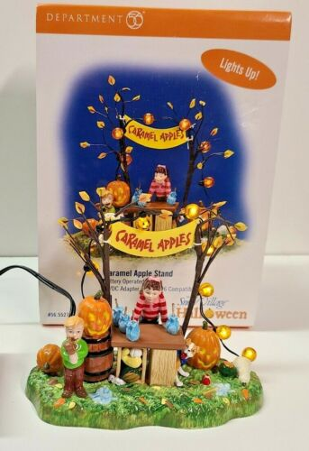 Department 56 Halloween Caramel Apple Stand Battery Operated