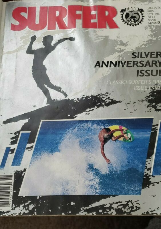 "SURFER MAGAZINE-Jan 1985 ""25 Years Silver Anniversary Issue"" Volume 26 # 1"