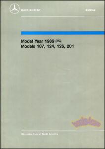MERCEDES REPAIR SHOP 1989 INTRO MANUAL TO SERVICE TRAINING BOOK 107 124 126 201
