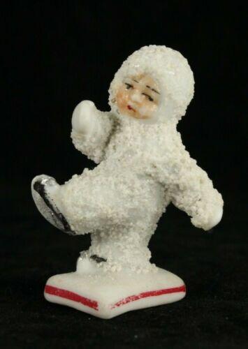 Bisque Skating GERMANY Christmas SNOW BABY German Snowbabies Santa Falling