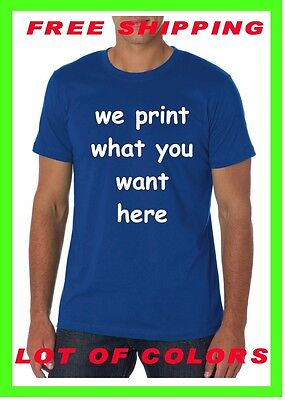 BUY YOUR Custom Personalized T Shirt -Your TEXT- PRINT WHAT YOU WANT Camisetas - Buy Custom