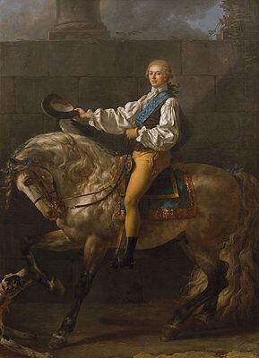 Equestrian portrait of Stanis?aw Kostka Potocki David Pferd Adel B A3 02363 ()