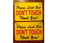 """4x pieces LOOK but please dont touch sticker decal hot rod 2.75/"""""""