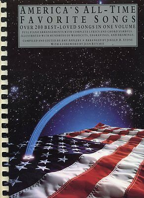 America s All-Time Favorite Songs - Songbook, By Appleby - 200 Songs - $23.95