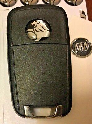 Pair (2x) 14mm Holden 3D Sticker Key FOB Logo Emblem Chevy SS VF Black/Silver