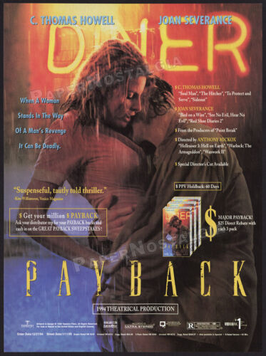 PAYBACK__Original 1994 Trade print AD / promo__JOAN SEVERANCE__C. THOMAS HOWELL