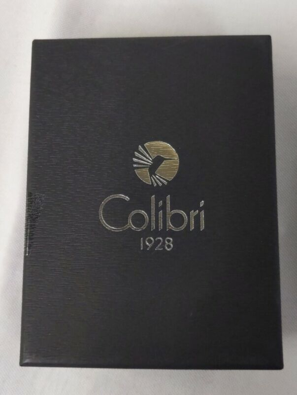 Colibri Quantum -Triple Jet Flame Lighter W/ V-Cut Cigar Cutter -Chrome & Black