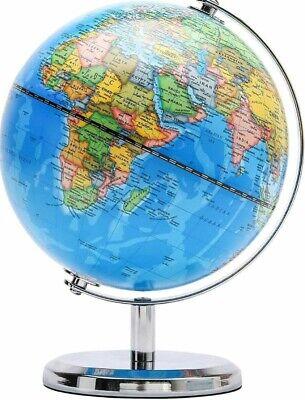 Educational Swivel World Globe Table Home Office Kids  Dia 14CM Blue Brand New