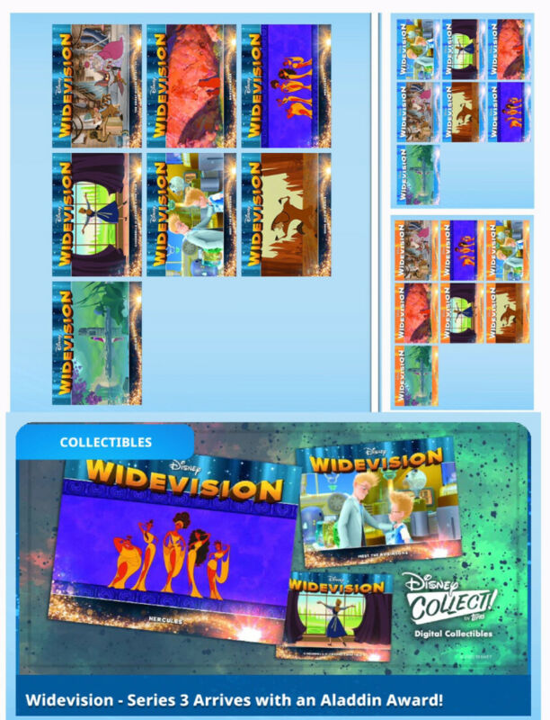 WIDEVISION SERIES 3 SET-21 CARDS-MAGICAL MOTION/BLUE/ORANGE-TOPPS DISNEY COLLECT