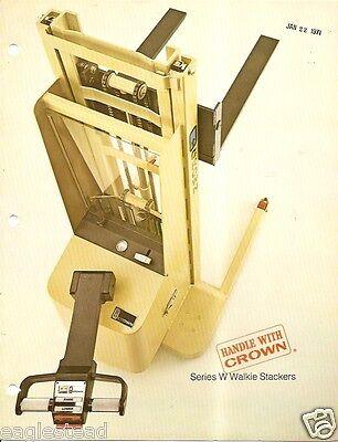 Fork Lift Truck Brochure - Crown - Walkie Stacker Pallet Shuttle 4 Item Lt195