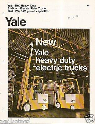 Fork Lift Truck Brochure - Yale - Erc Heavy Duty Electric - C1974 Lt14