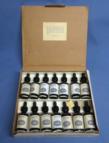 VintageRetouching Colors Dyes For All Prints 14 Colors 1oz Bottles in Box