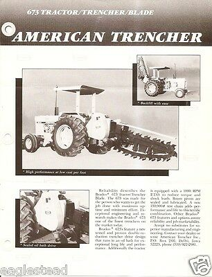 Equipment Brochure - American Trencher Bradco 673 Tractor Trencher Blade E2549