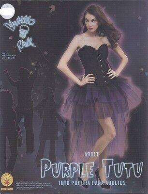 Burlesque Vampire Costume (BRAND NEW Tulle Skirt Tutu Tiered BLACK PURPLE Burlesque Vampire)
