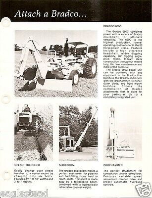 Equipment Brochure - Bradco - 660c Trencher Backhoe Et Al For Tractor E2660