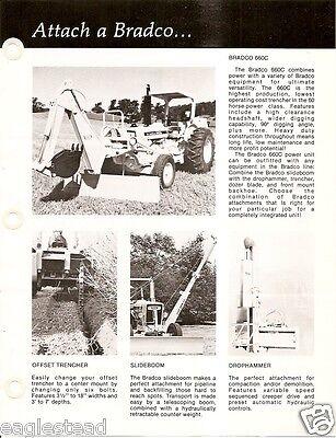 Equipment Brochure - Bradco - 660c Trencher Backhoe Et Al For Tractor E2660