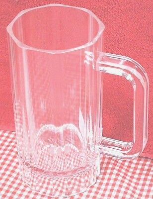 16 oz BEER MUG Clear Heavy Polycarbonate Durable Plastic Bar Mugs Clear New