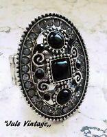 Anello Celtico Argento-platino,zaffiro-nero,topazi,quarzi:prezioso,notevole (c1) -  - ebay.it