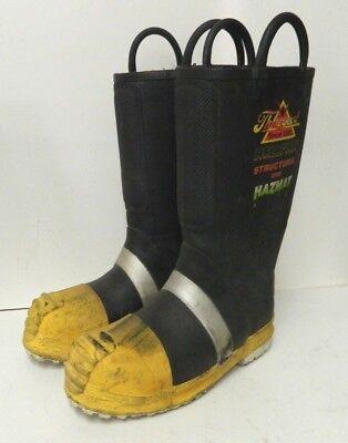 Thorogood Structural Hazmat Steel Toe Firefighter Fire Boots Size 8 Medium 5