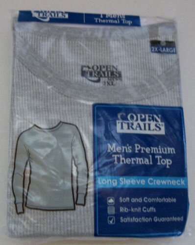 """Open Trails Thermal Top #2 """" Gray """" 2XL ( 50 - 52 ) ~ New"""