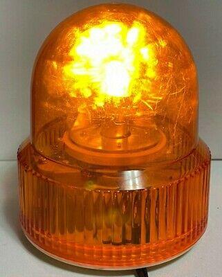Vintage Amber Rotating Emergency Strobe Light U. K. Design Reg No 1001182 Works