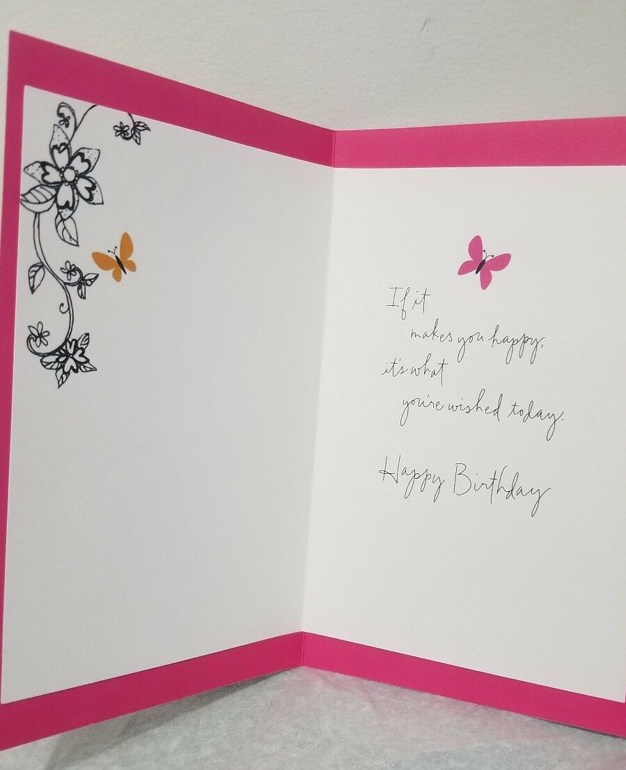 Happy Birthday Card With Butterflies By American Greetings 400