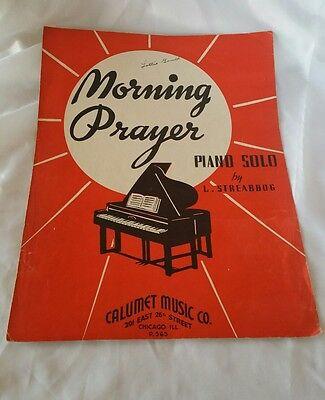 MORNING PRAYER Piano Solo Sheet Music Vintage 1935