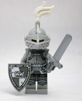 Heroic Knight Series 9 Sword Shield Plume LEGO Minifigure Mini Figure Fig