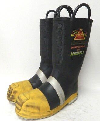 Thorogood Structural Hazmat Steel Toe Firefighter Fire Boots Size 8 Medium 2