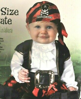 NEW Baby incharacter Pint Size Pirate Costume dressup costumes 6-12 month 2 pc](Pirate Costume Baby)