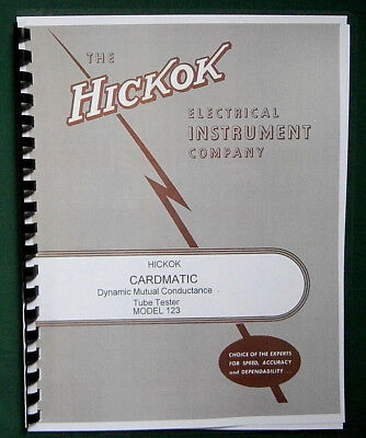 Hickok 123 Cardmatic Tube Tester Instruction Manual