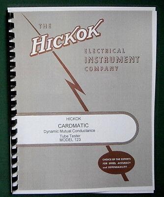 Hickok 123 Cardmatic Tube Tester Instruction Manual
