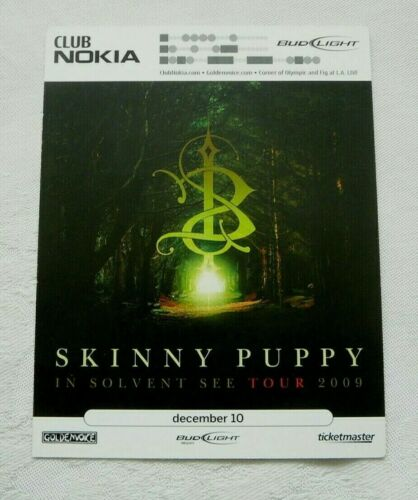 SKINNY PUPPY CLUB NOKIA SHOW STANDEE  2009 LOS ANGELES