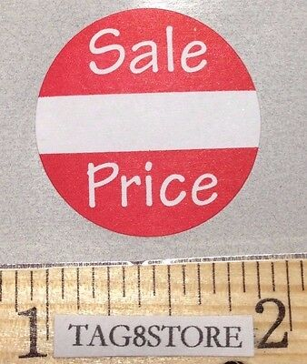 500 Self-adhesive Sales Price Round Retail Labels 1 Stickers Tags - Sale Price