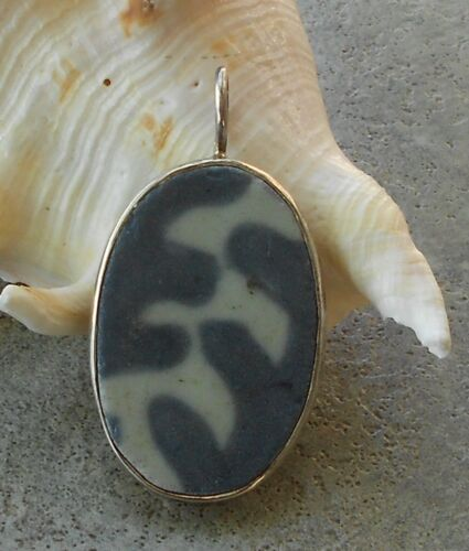 Ancient Pottery Shard Encased in Sterling Pendant From the HOLY LAND