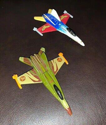 2 Matchbox Planes DC Justice League Wonder Woman Jet Plane Airplane Diecast !!!!