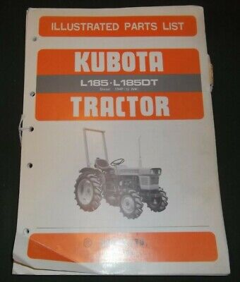Kubota L185 L185dt 17hp Diesel Tractor Parts Manual Book Catalog Oem Original