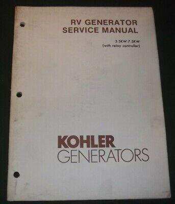 Kohler 3.5kw-7.5kw With Relay Controller Rv Generator Service Shop Repair Manual