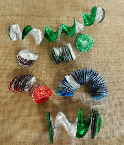 Lot of  Vintage Aluminum Christmas Garland Foil Made in Germany #176