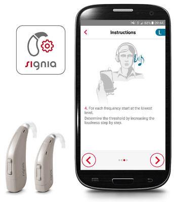 New Siemens Signia Run P Sp Bte Hearing Aid   Severe To Profound Loss  Warranty